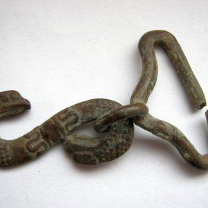 Porte-couteau serpent connecteur de crochet de cru