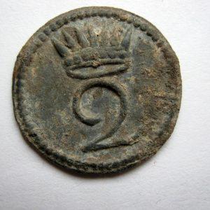 Rare bouton Royaume d'Italie 2e régiment alliés de Napoléon Bonaparte