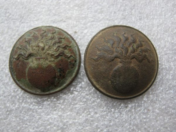 French sapper engineer buttons