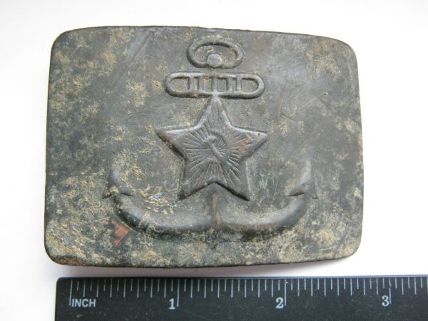 USSR Navy belt buckle inches