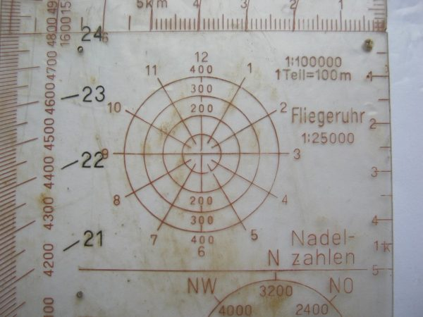 original ww2 wehrmacht map case scale tool rule