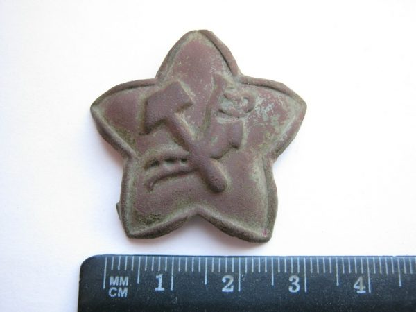 red army hat badge