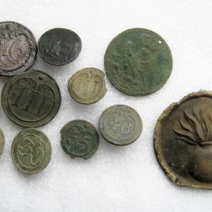 Relics Grand Army buttons etc.