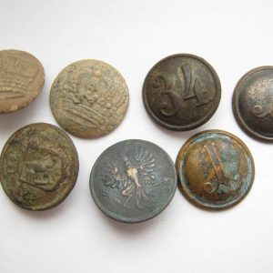Set of old vintage Austria WW1 military buttons