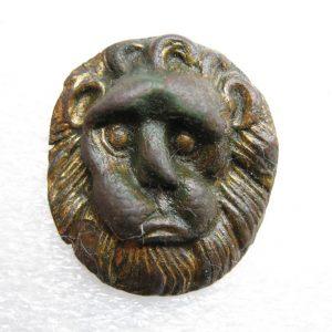 Vintage platta med Lion Head-bild