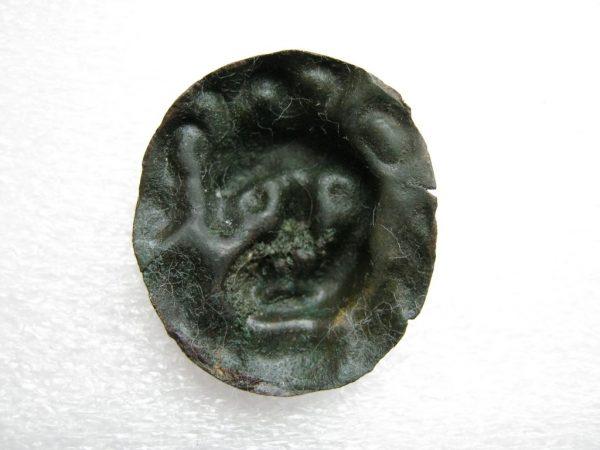 Vintage plate with Lion Head image -back side