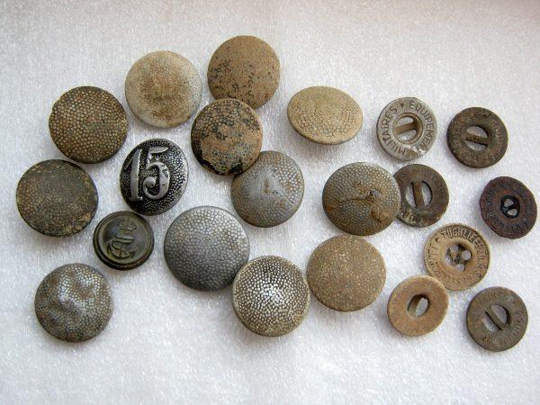 Vintage aluminum and zinc tunic wehrmacht uniform buttons.