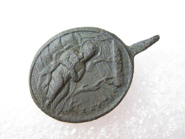 Antique bronze medallion St. IGNATIUS LOYOLA