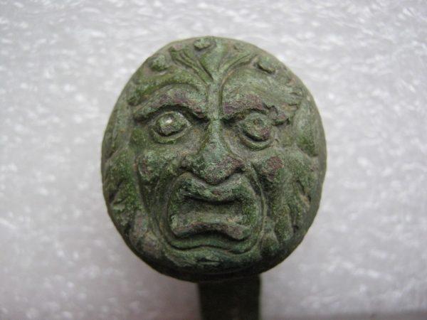 antique decor plate lion face head napoleonic wars